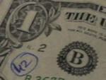 A marked dollar bill (from Ása Bjarnadóttir, ViralBostonian)