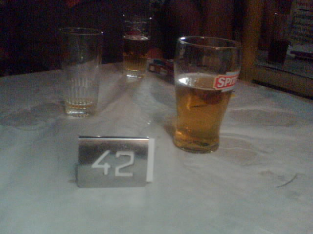 Table nr. 42 at resturant (thanx Valli :-) )