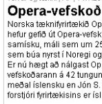 The Opera webbrowser is now available in 42 languages including Icelandic!