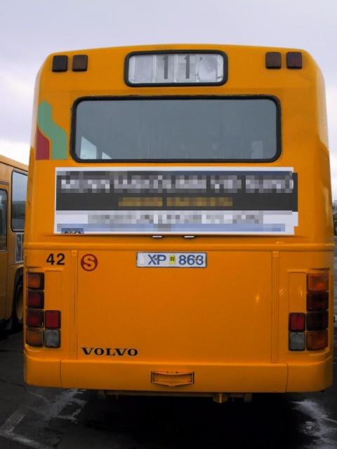 Reykjavík buscompany's 42nd bus.