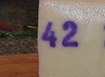 Cheese from Akureyri, Iceland has this number printed on it.