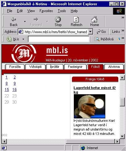 Lagerfeld lost 42 Kg in 13 months!