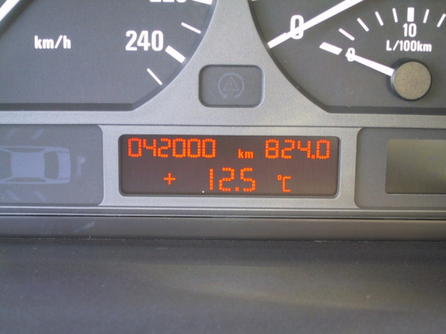 Ingimar's car finally reached the great milestone of 42000km.