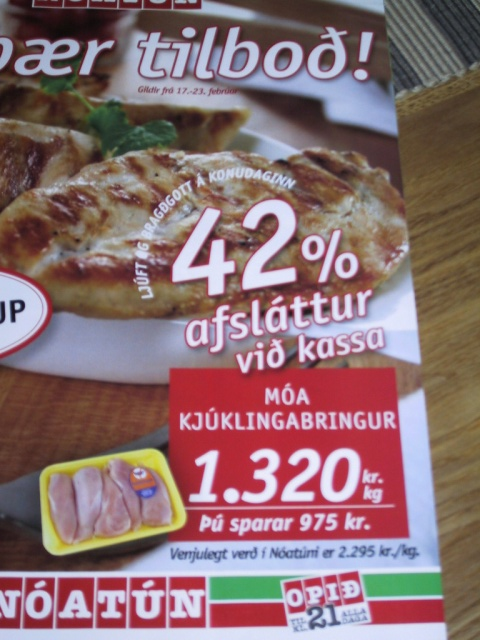 42% discount on chicken breasts