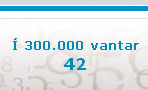42 more to reach 300.000 Icelandic people