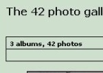 The 42.is photogallery reaches the goal of 42 pictures on July 18th 2002.